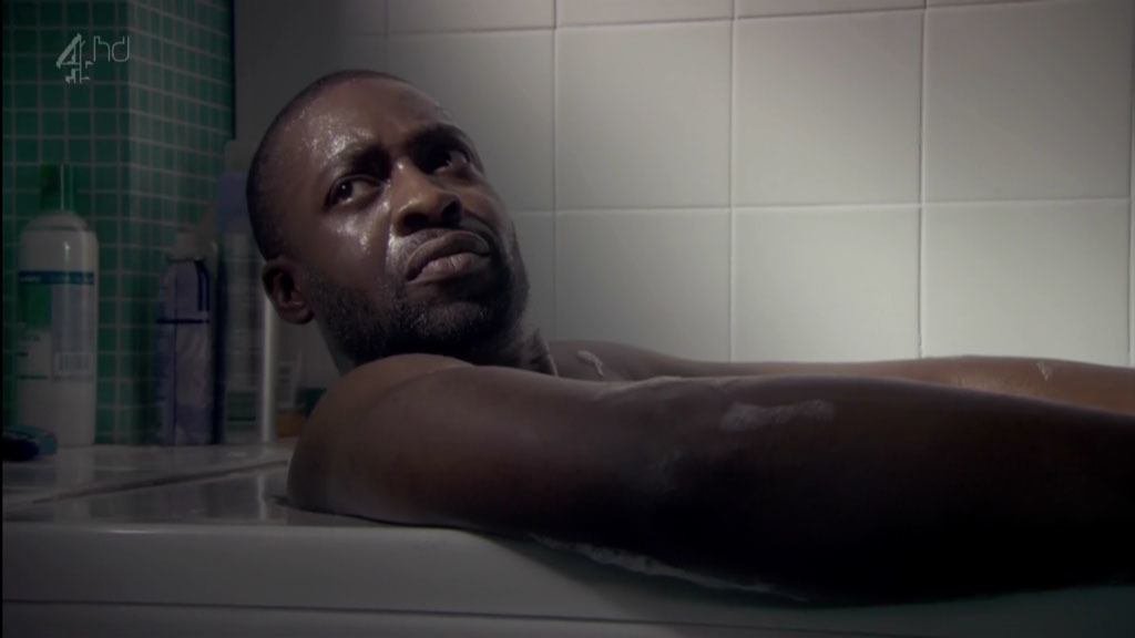 Emmanuel Ighodaro Naked In The Bath In Shameless image