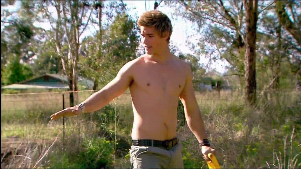 Brenton Thwaites Shirtless In Home and Away image
