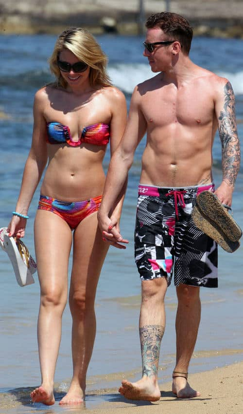 Danny Jones Shirtless On Beach image