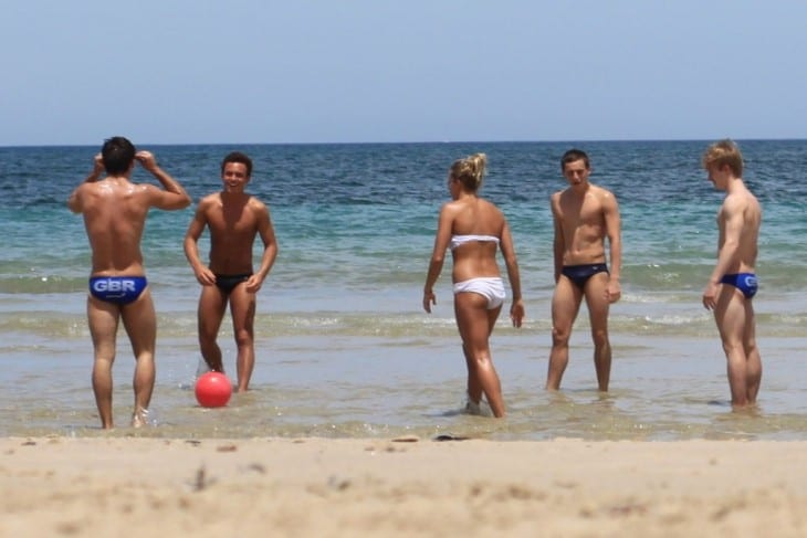 Tom Daley, Max Brick, Jack Laugher and Chris Mears Shirtless On Holiday