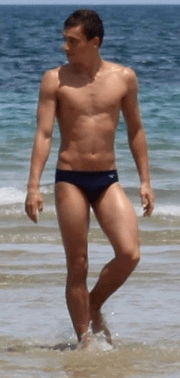 Max Brick Shirtless and in Speedos