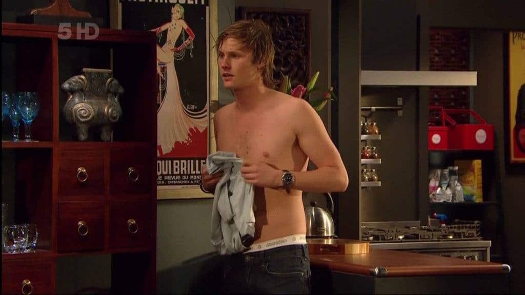 Jordan Smith Shirtless In Neighbours Feb 2012 image
