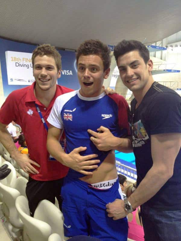 Tom Daley Showing A Glimpse Of His Underwear image
