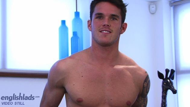 Uncut Straight Guy Jay Halls Dildo Play image
