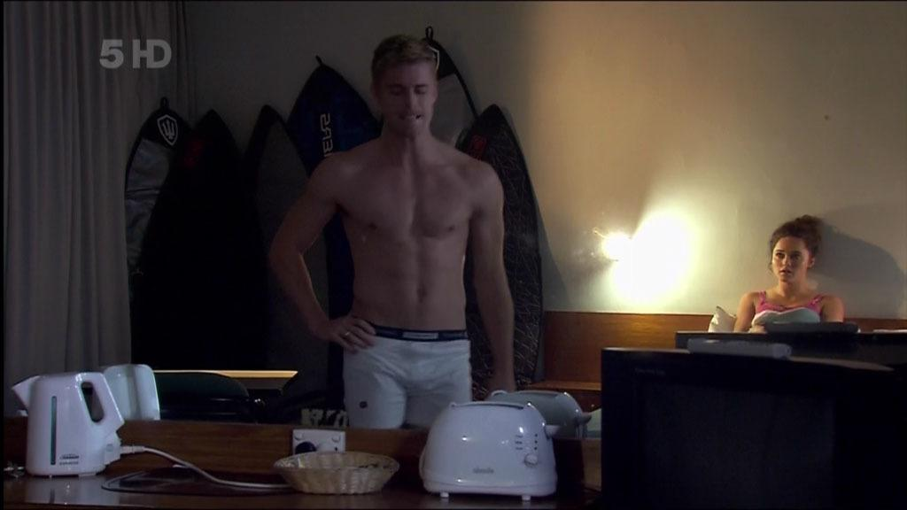 Luke Mitchell In Just His Underwear