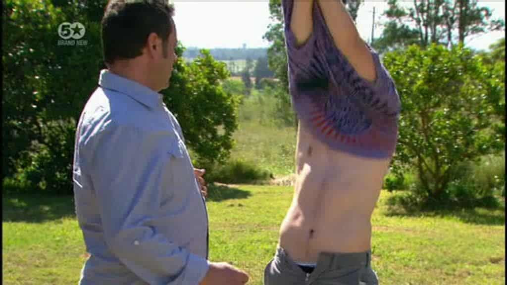 Charles Cottier Strips To His Underwear On Home and Away image
