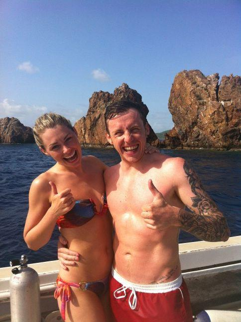 Danny Jones Shirtless On Holiday image