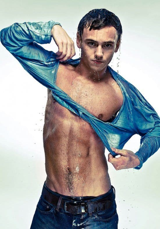 Tom Daley Shirtless and Wet