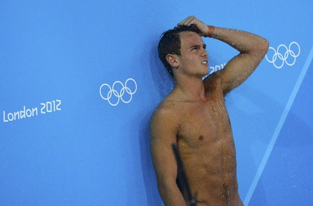 Tom Daley In His Synchro Final