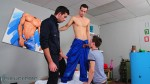 Two Hung Boys Share Hairy Daddy Damian Boss 1