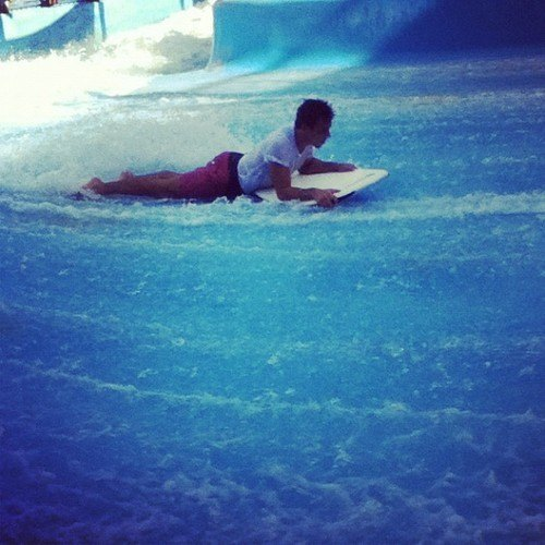 Tom Daley at Wild Wadi Waterpark in Dubai
