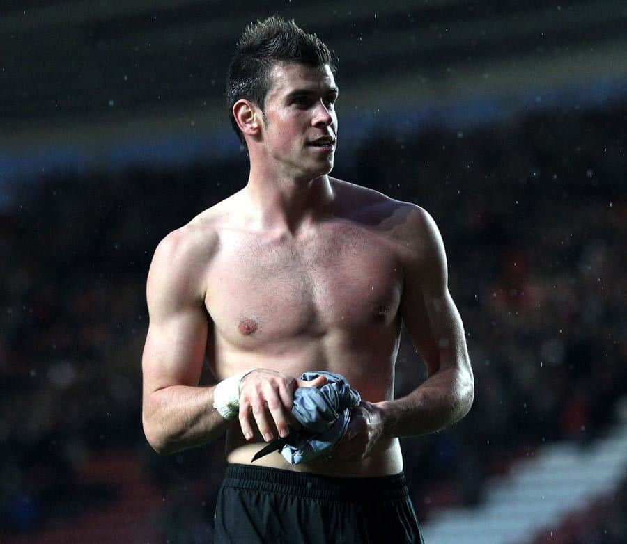 Gareth Bale Shirtless After Saints Match