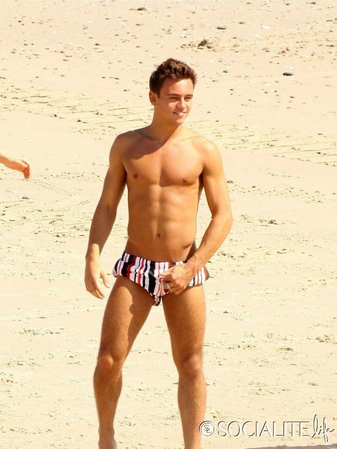 Tom Daley Shirtless On Holiday