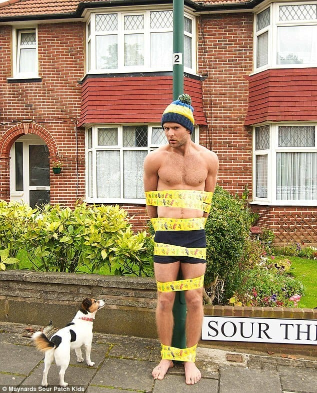 Harry Judd Tied To Lamp Post image