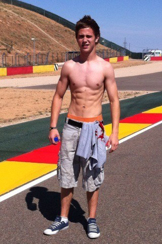 Danny Kent Showing Off His Six Pack