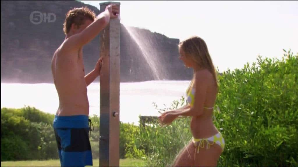 Luke Mitchell Shirtless Shower