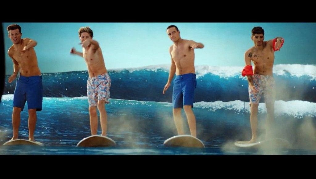 One Direction Shirtless In Kiss Me Video image