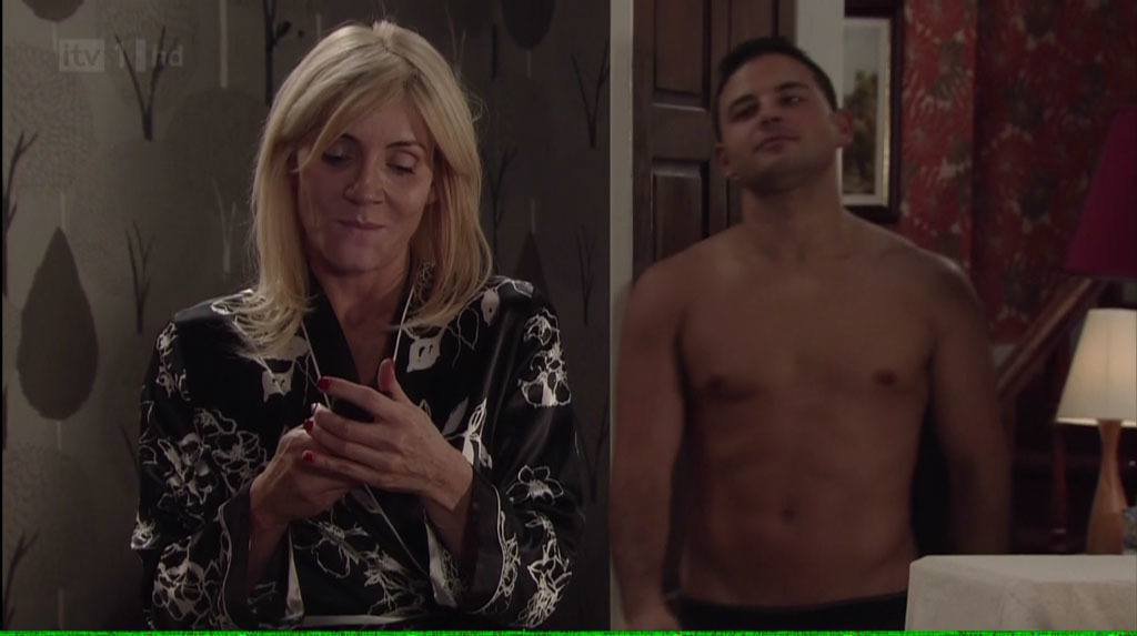 Ryan Thomas Shirtless In Coronation Street