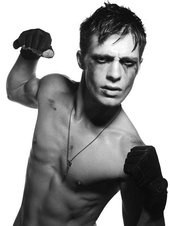 Colton Haynes Black and White Shirtless Photoshoot image