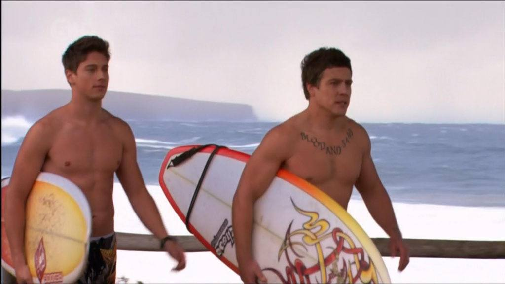 Lincoln Younes Shirtless On Home and Away image