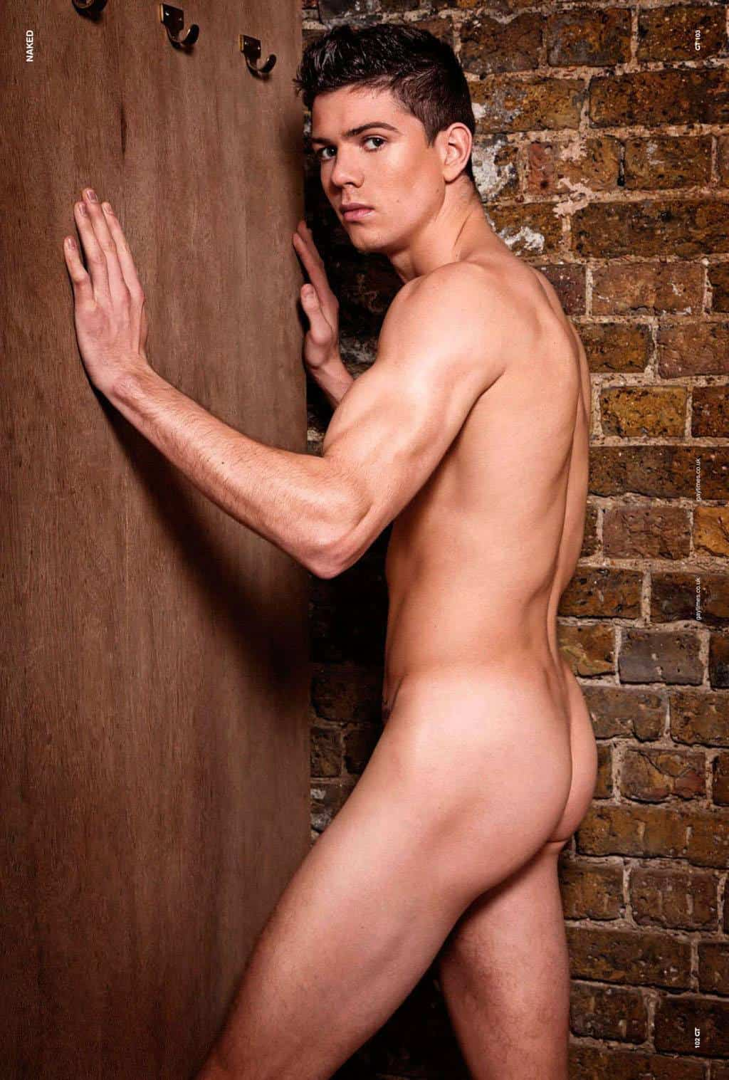 Sexy Young Dude Luke Campbell Strips Down To His Tight Underwear