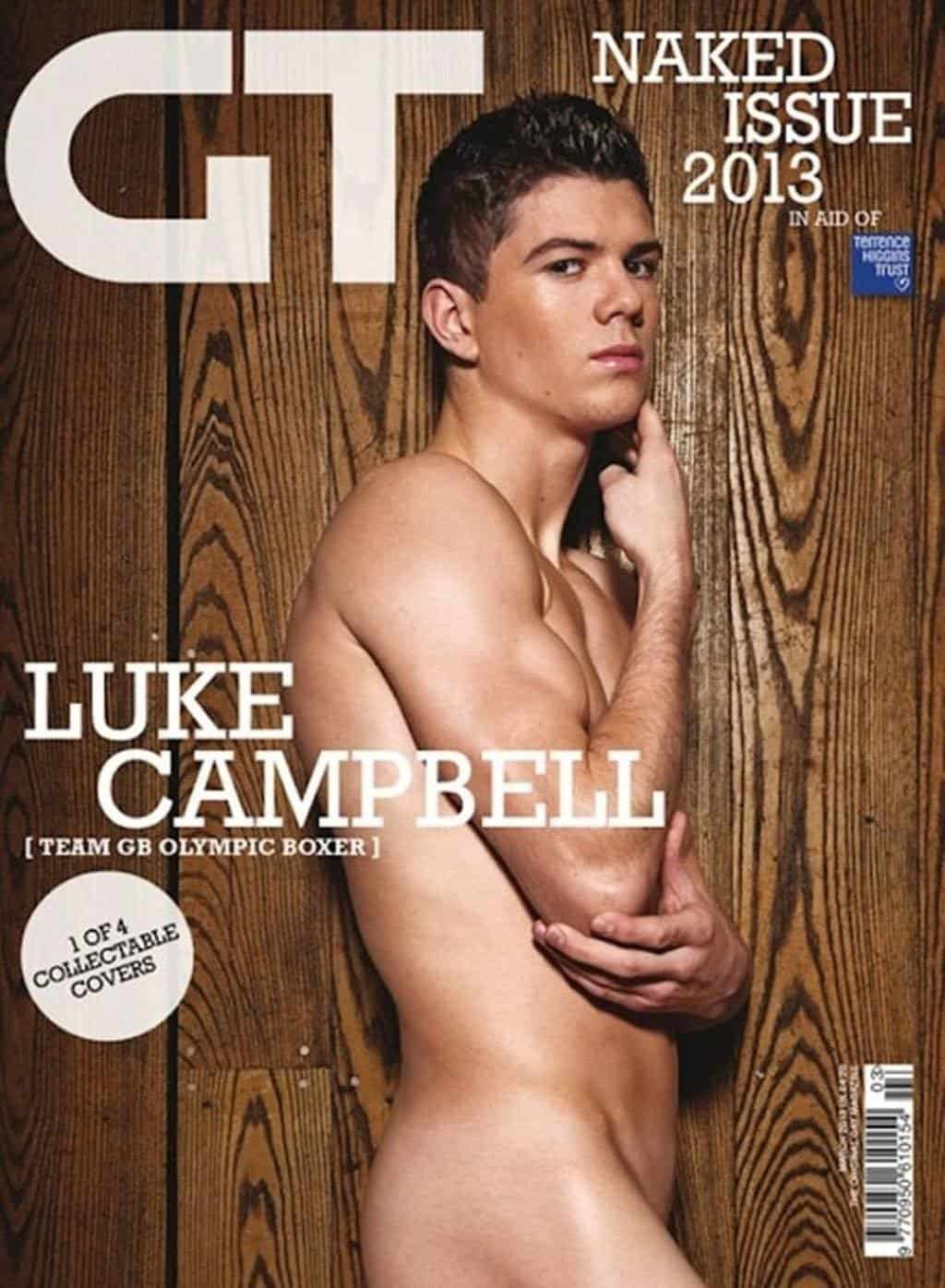 Luke Campbell Naked In Gay Times Naked Edition 2013 image