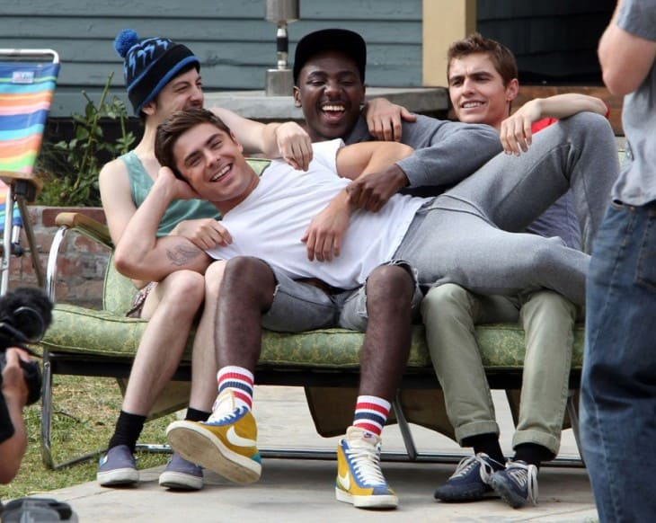 Zac Efron, Christopher Mintz-Plasse and Dave Franco hit the set of 'Townies' in Los Angeles