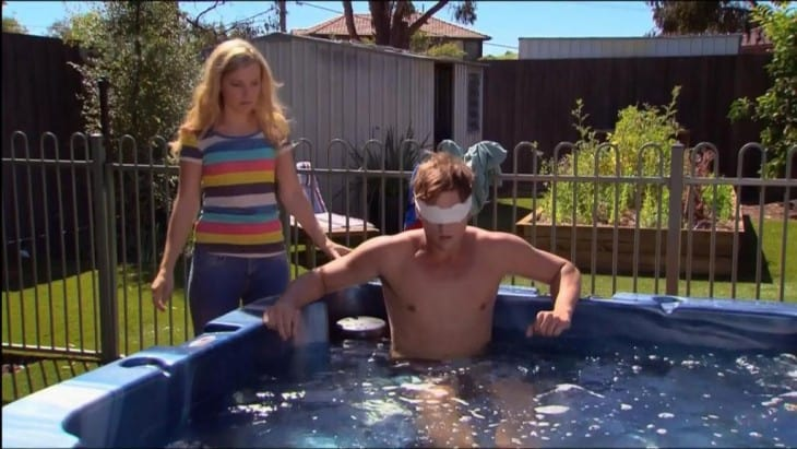 Chris Milligan Shirtless In Hot Tub