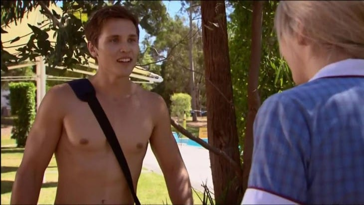 Harley Bonner Shirtless Again In Neighbours