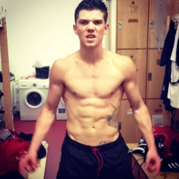 Luke Campbell Shirtless After Workout