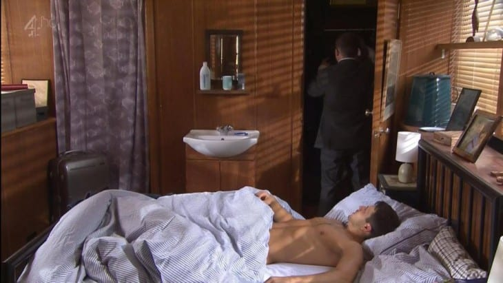 Danny Mac Shirtless In Bed In Hollyoaks