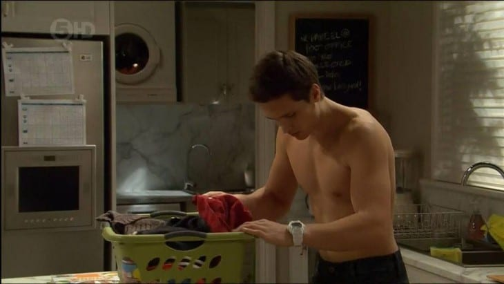 Harley Bonner Shirtless Changing Tops In Neighbours