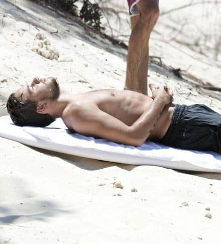 Liam Payne Surfing Gold Coast Including Shirtless image