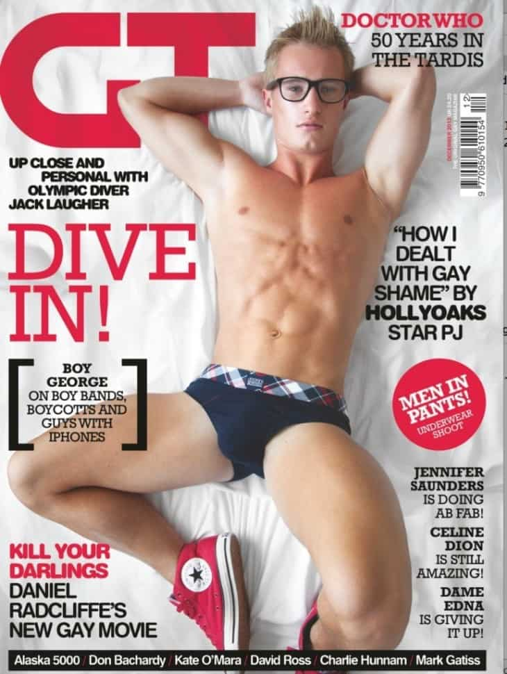 Jack Laugher Shirtless & Naked In The Gay Times