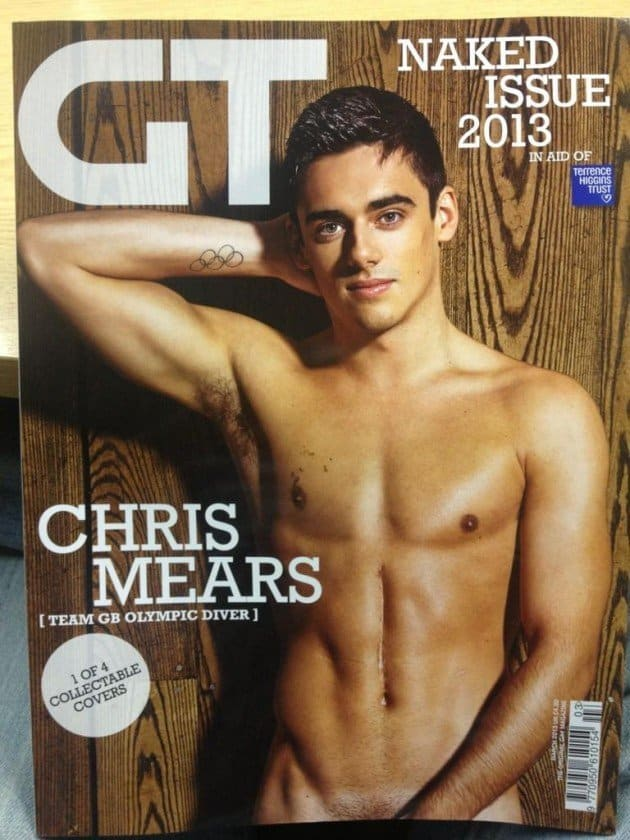Photoshoot, Chris Mears, Bum - Chris Mears Naked In Gay Times Naked Edition