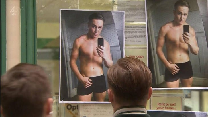 Recent Alfie Browne-Sykes Shirtless In Hollyoaks