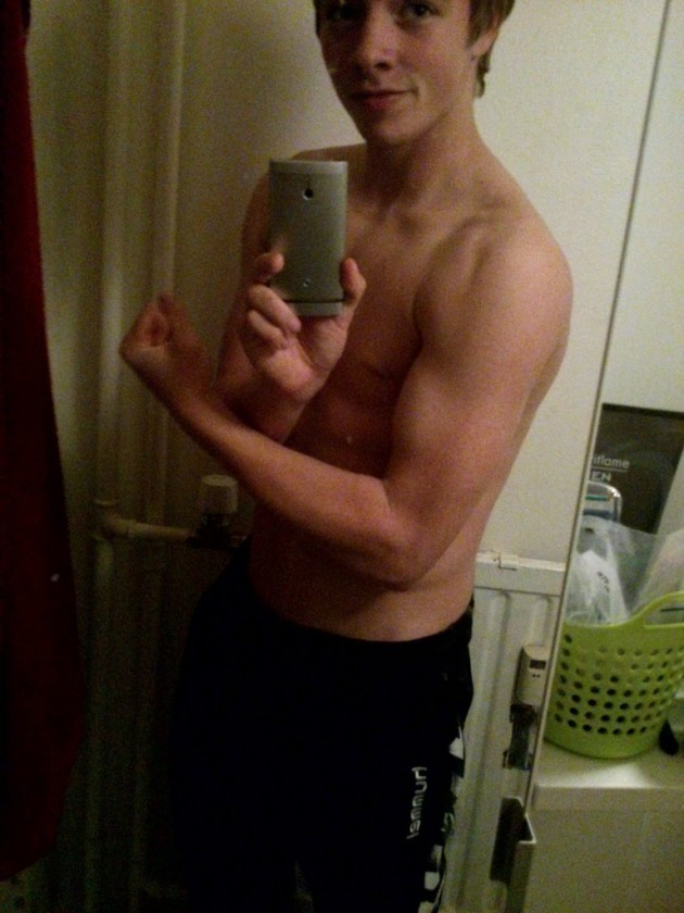 Hung Fit Teen Lad Flexin