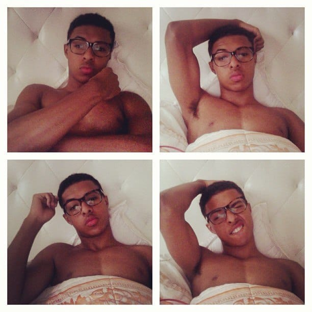 Diggy Simmons Shirtless Instagram Pics