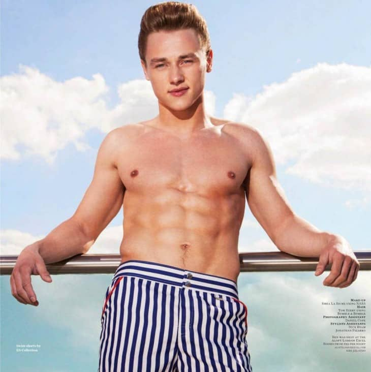 Ben Hardy Shirtless Attitude Photoshoot