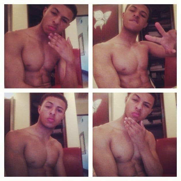 American Rapper Diggy Simmons Shirtless On Instagram image
