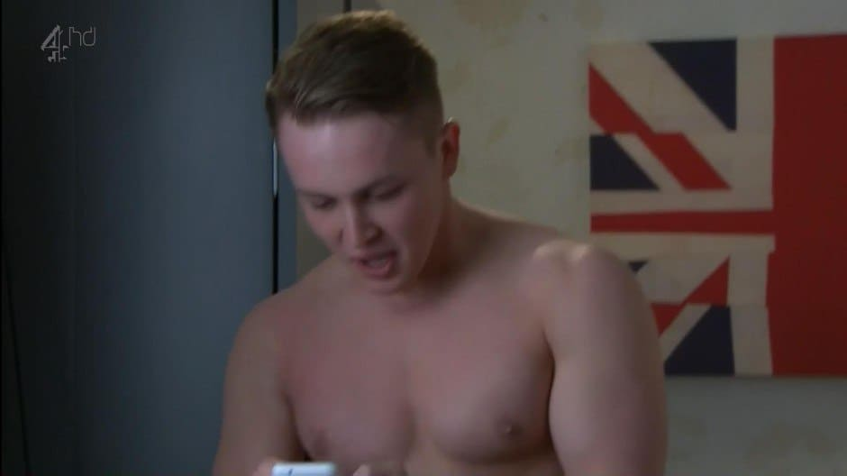 Alfie Browne Sykes Shirtless In Hollyoaks image