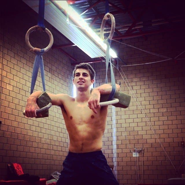 Max Whitlock Training Workout Shirtless