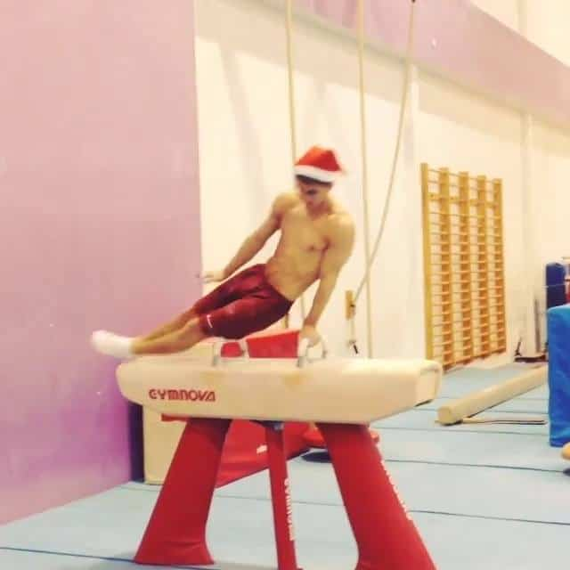Max Whitlock Sexy Santa Shirtless