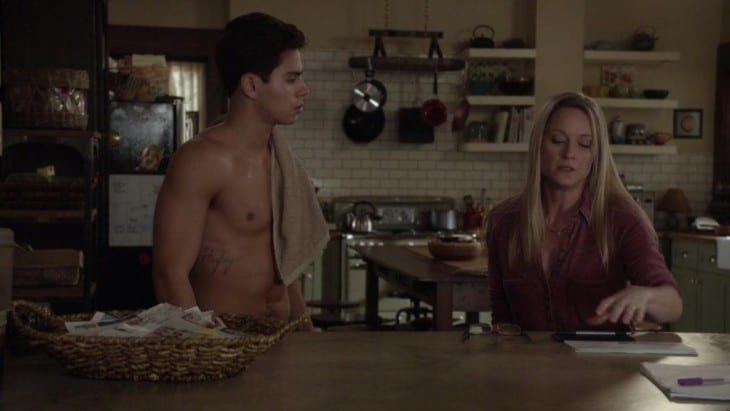 Jake T. Austin - Shirtless in The Fosters
