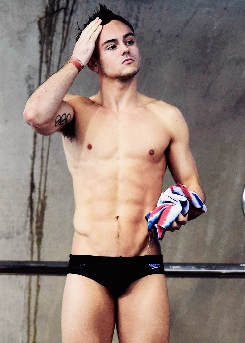 Tom Daley Bulging In Speedos At Event