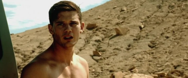 Jeremy Irvine Shirtless In Beyond The Reach