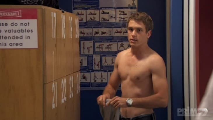 Jake Speer Shirtless In Locker Room