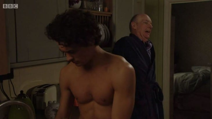 Jonny Labey - Shirtless in Eastenders