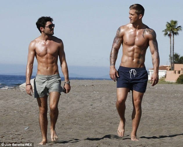 Dan Osborne Shirtless In Marbella With TOWIE image