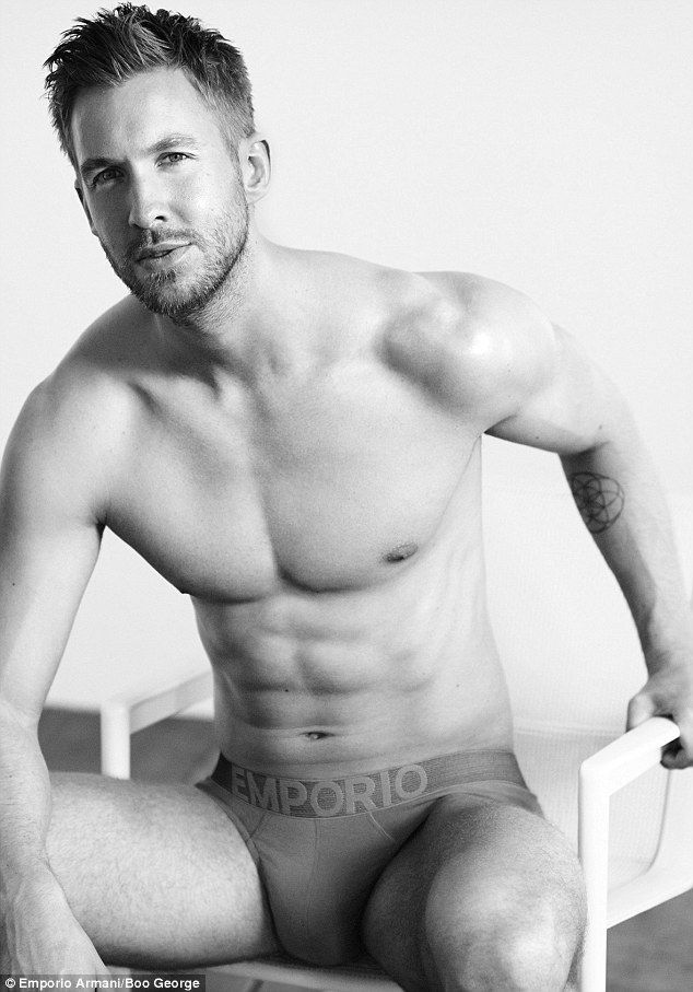 Calvin Harris Shirtless In Armani Underwear Photoshoot image